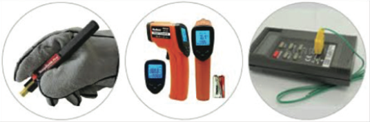 Figure 2. Temperature Measurement Tools.