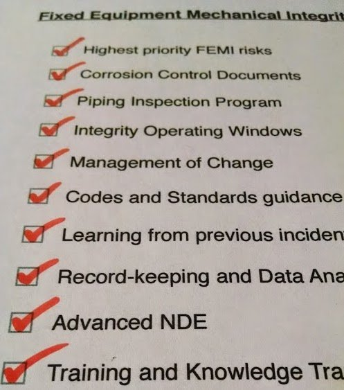 The Top Ten Reasons for Fixed Equipment Mechanical Integrity Failures