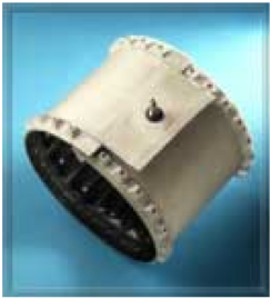 Figure 2. Inflatable collars for transducers