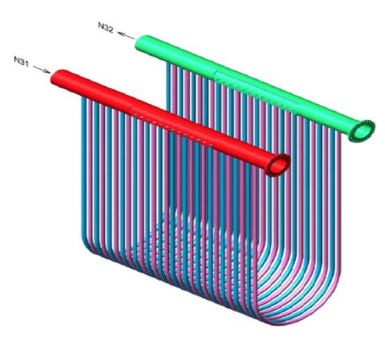 Figure 2. Heater coil configurations.